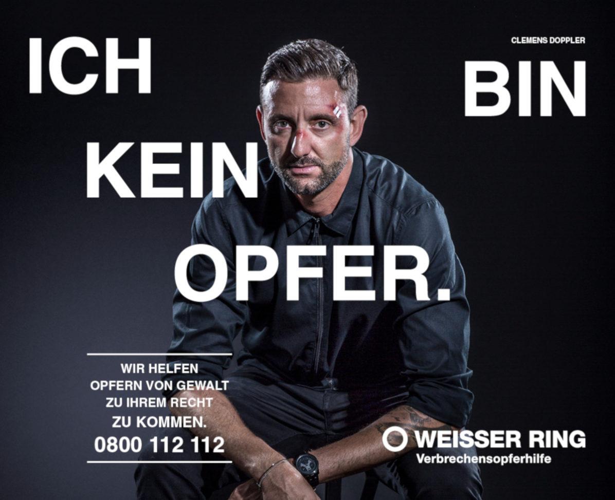 """Sujet """"Ich bin kein Opfer"""" mit Testimonial Clemens Doppler"""