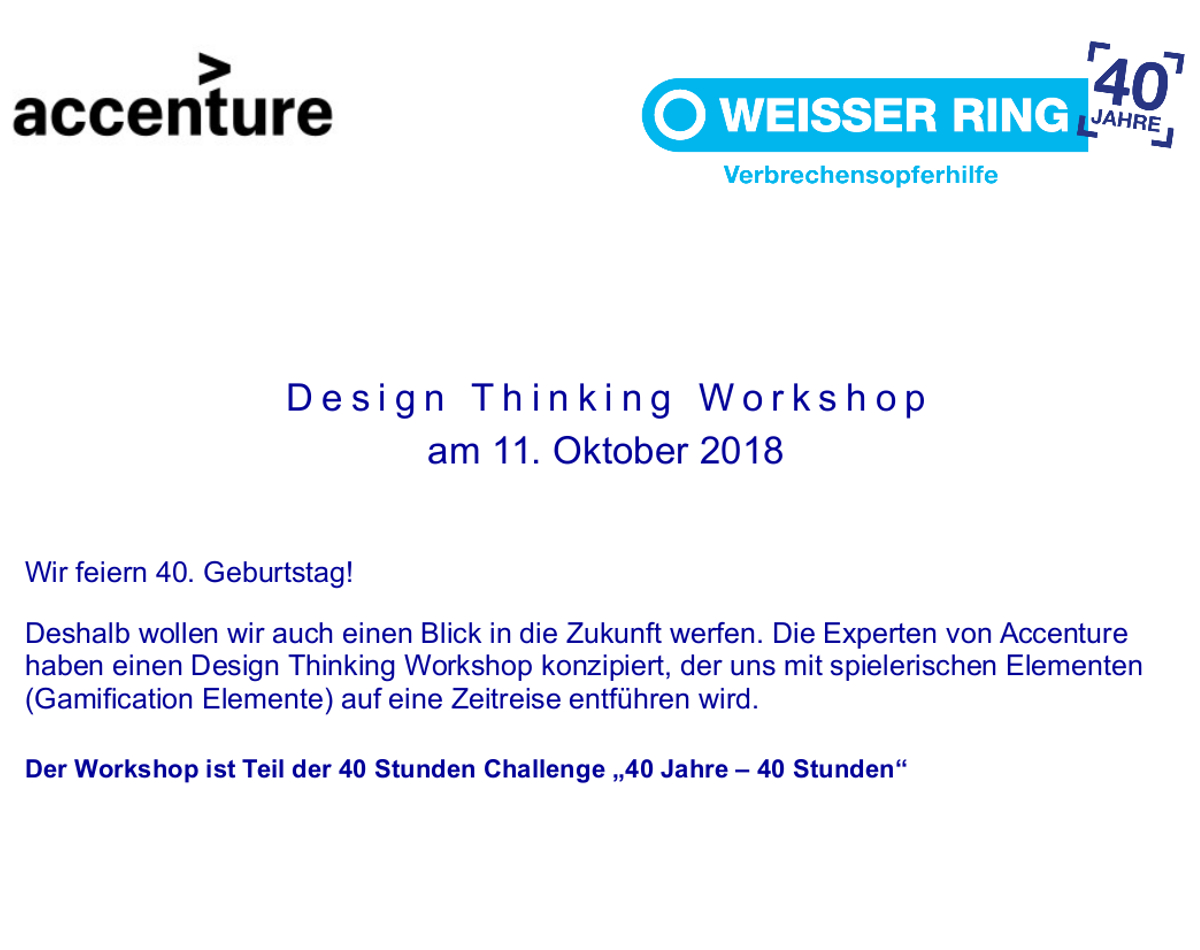 Einladung Design Thinking Workshop