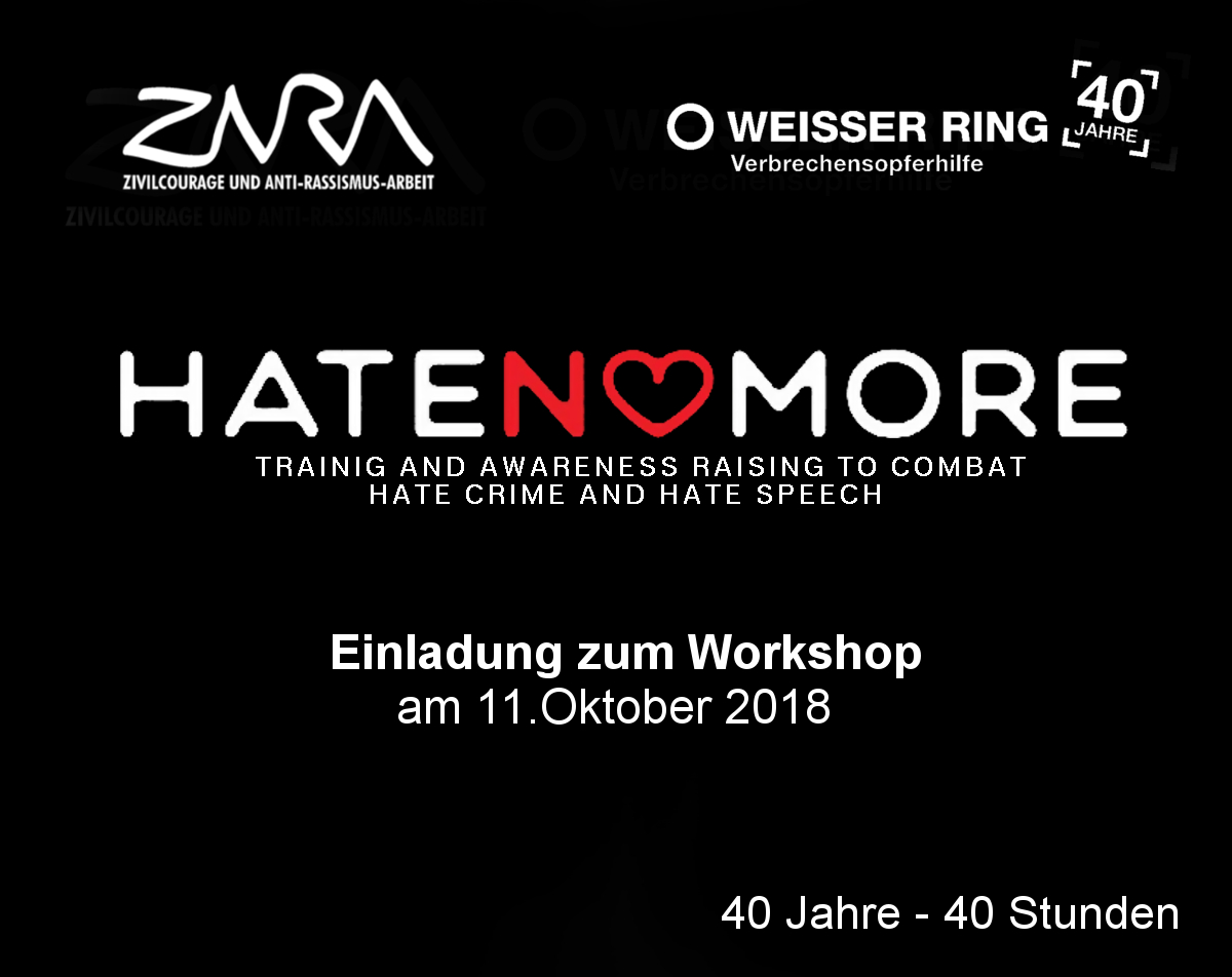 Hate No More Einladung