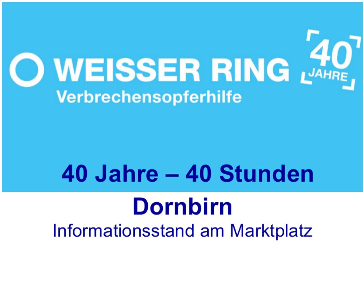 Dornbirn - Ankündigung Info-Stand