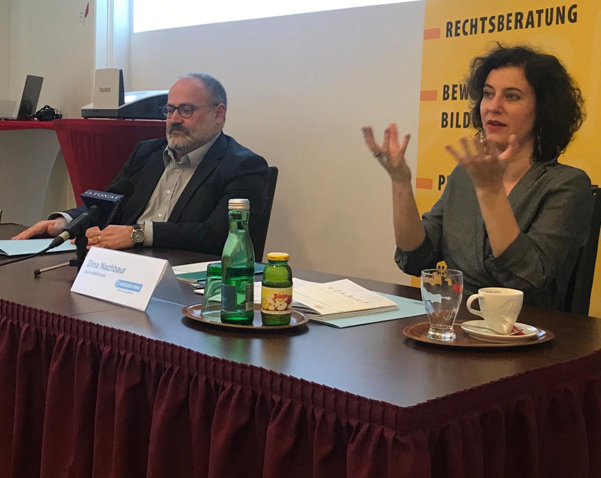 Dieter Schindlauer und Dina Nachbaur / Foto WEISSER RING Orhan Maglajlic
