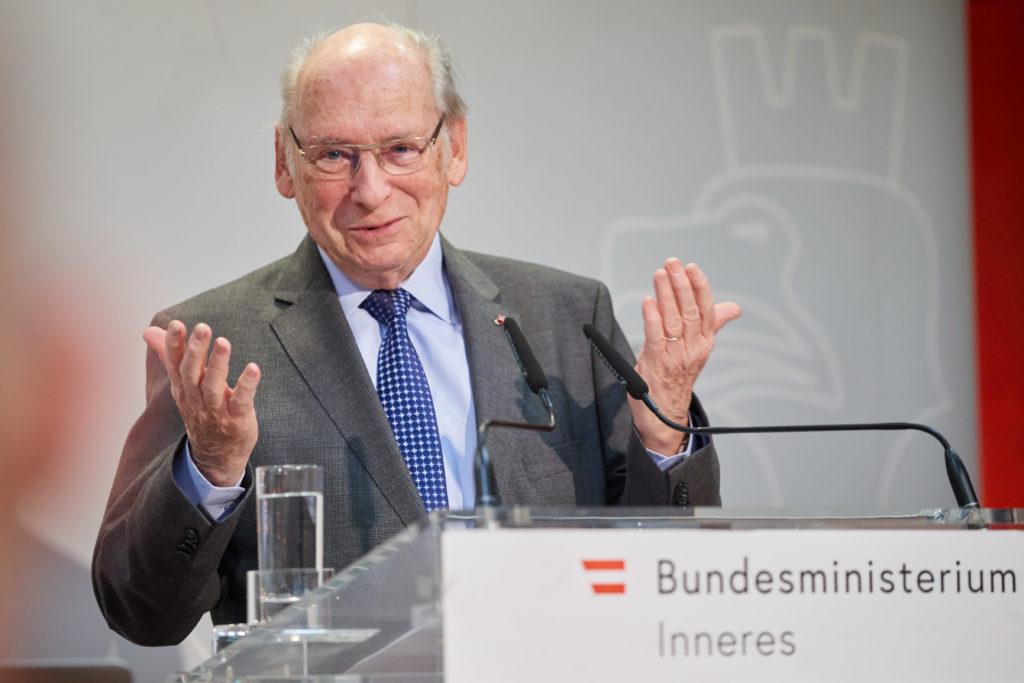 Copyright: BMI / Alexander TUMA, 22.02.2019 Wien,   Udo JESIONEK, Tag der Kriminalitätsopfer 2019 Weisser Ring
