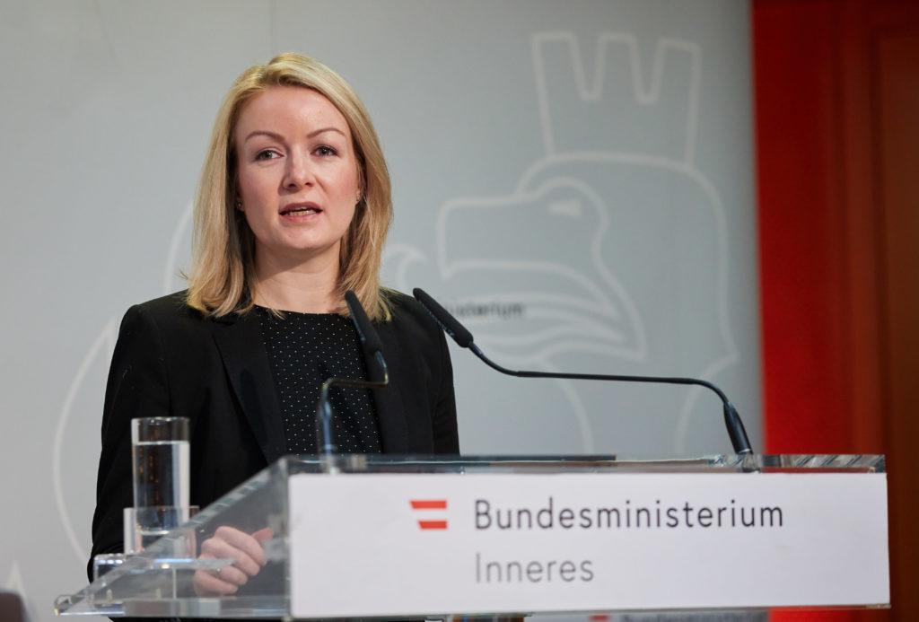 Copyright: BMI / Alexander TUMA, 22.02.2019 Wien,    Bernadett HUMER,     Tag der Kriminalitätsopfer 2019 Weisser Ring