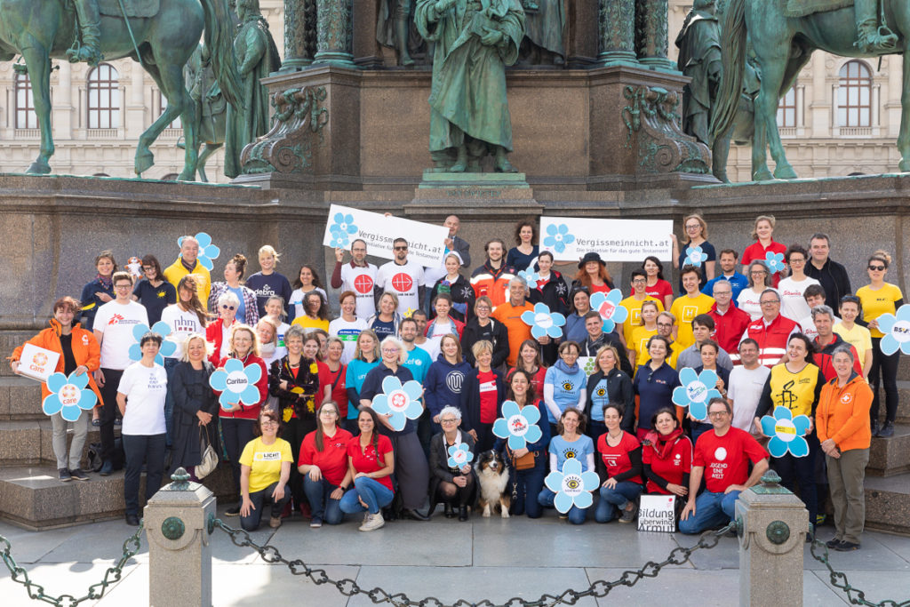 Dank-Event Vergissmeinnicht, Maria-Theresien-Platz, Wien, 24.4.2019, (c)Schedl