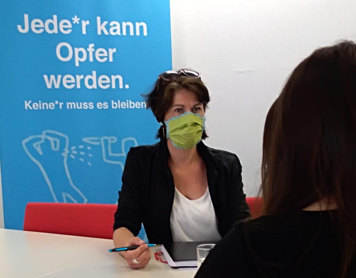 Beratung mit Maske
